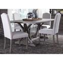 Liberty Furniture Carolina Lakes 5 Piece Trestle Table Set  - Item Number: 140-CD-5TRS