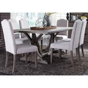 Liberty Furniture Carolina Lakes 7 Piece Trestle Table Set  - Item Number: 140-CD-7TRS
