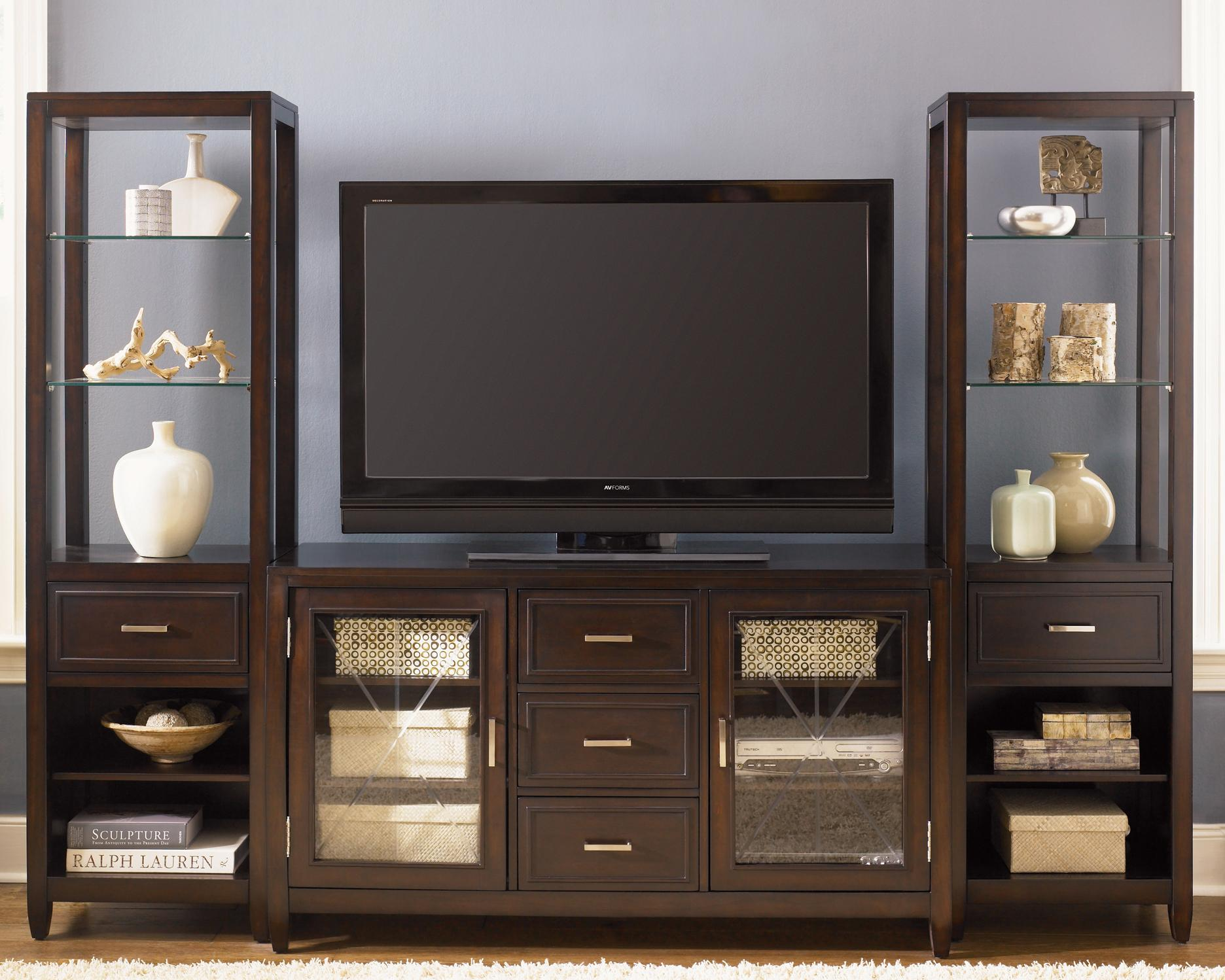 Liberty Furniture Caroline Entertainment Set - Item Number: 318-TV00+2xEP00B+2xEP00T
