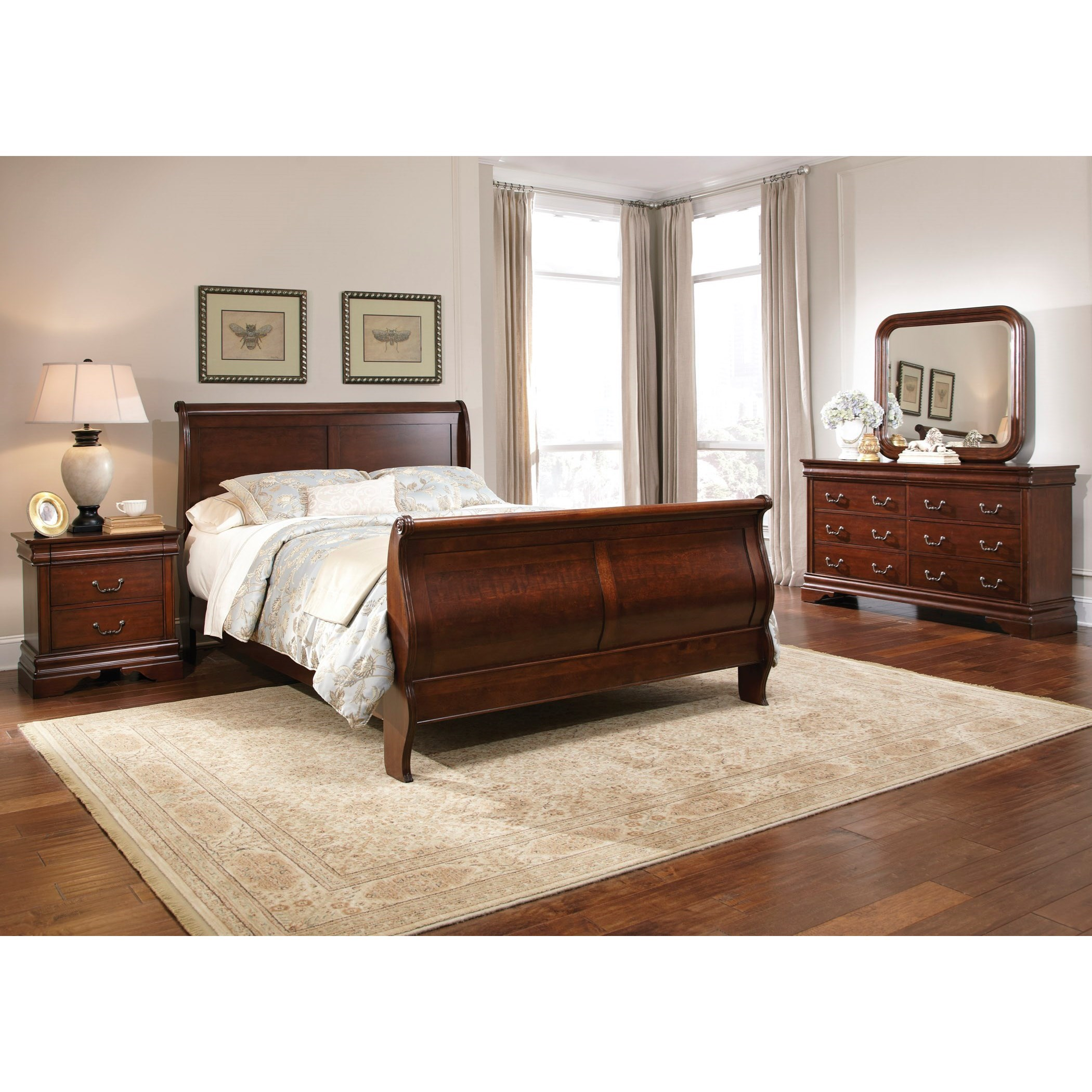 Carriage Court King Sleigh Bedroom Group by Libby at Walker's Furniture