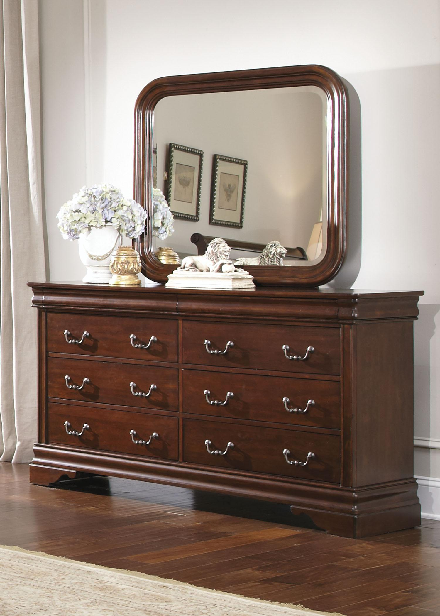 Liberty Furniture Carriage Court Dresser & Mirror - Item Number: 709-BR-SET50