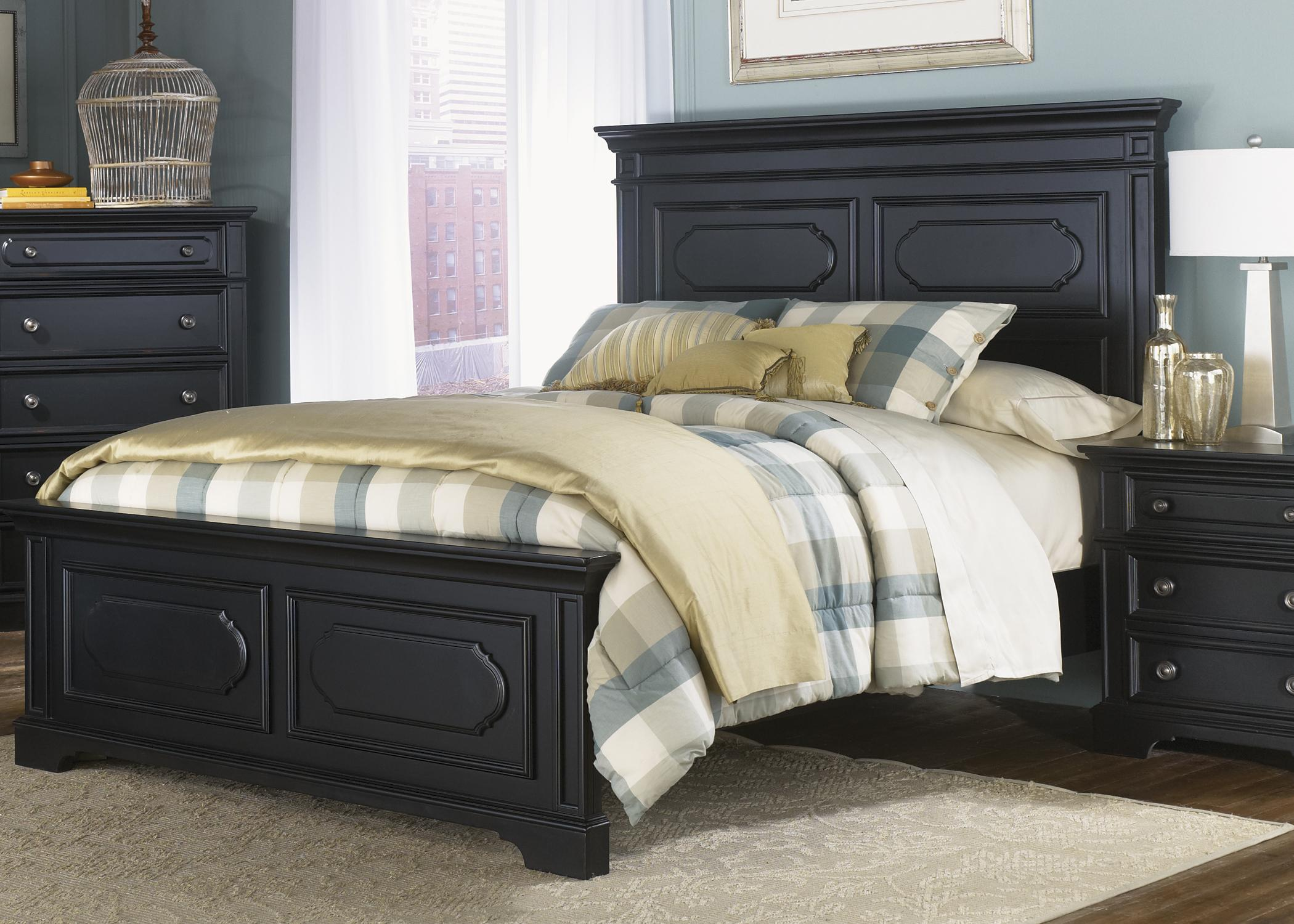 Liberty Furniture Carrington II King Panel Bed - Item Number: 917-BR15+16+73
