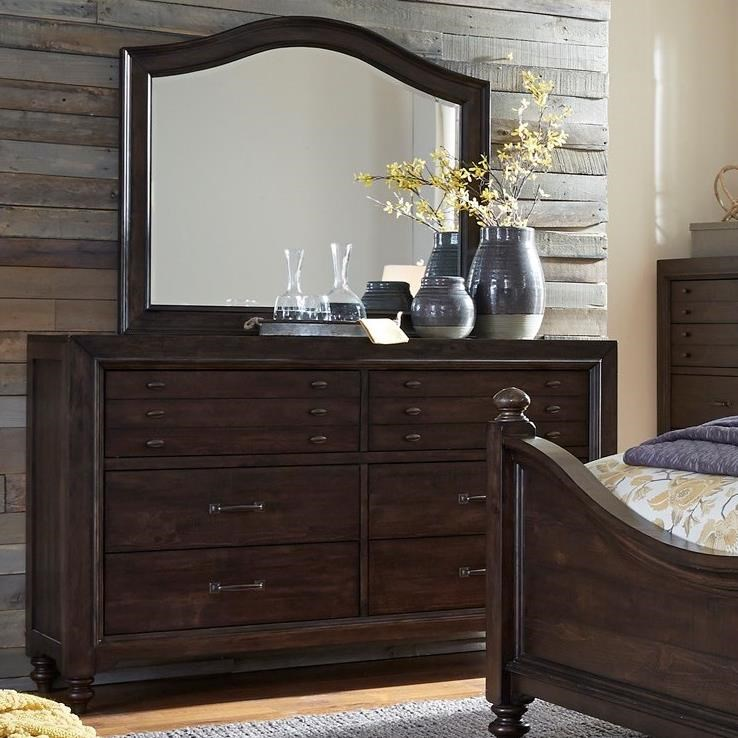 Catawba Hills Bedroom Dresser & Mirror  by Liberty Furniture at Northeast Factory Direct