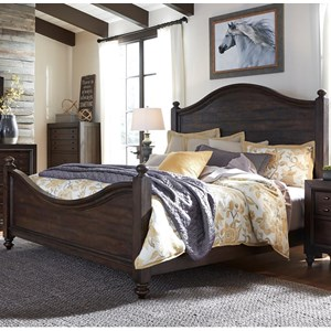 Liberty Furniture Catawba Hills Bedroom King Poster Bed