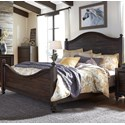 Liberty Furniture Catawba Hills Bedroom King Poster Bed  - Item Number: 816-BR-KPS