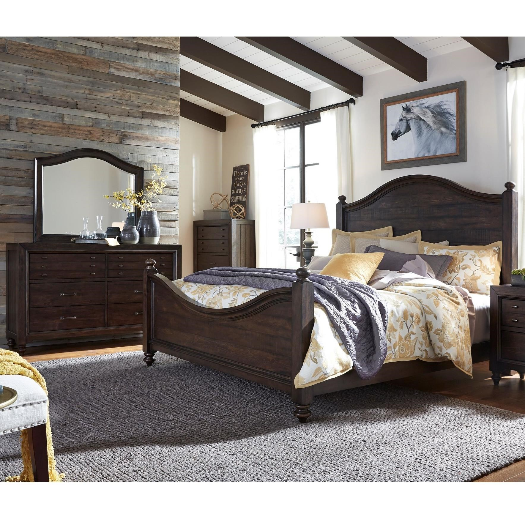 King Poster Bed Bedroom Group