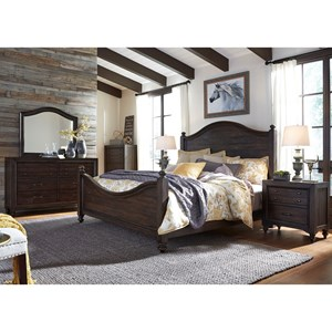 Sarah Randolph Designs Catawba Hills Bedroom King Poster Bed Bedroom Group