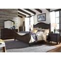 Liberty Furniture Catawba Hills Bedroom King Poster Bed Bedroom Group - Item Number: 816-BR-KPSDMCN
