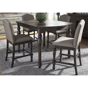 Liberty Furniture Catawba Hills Dining 5 Piece Gathering Table Set