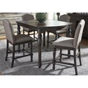 Liberty Furniture Catawba Hills Dining 5 Piece Gathering Table Set  - Item Number: 816-DR-5GTS