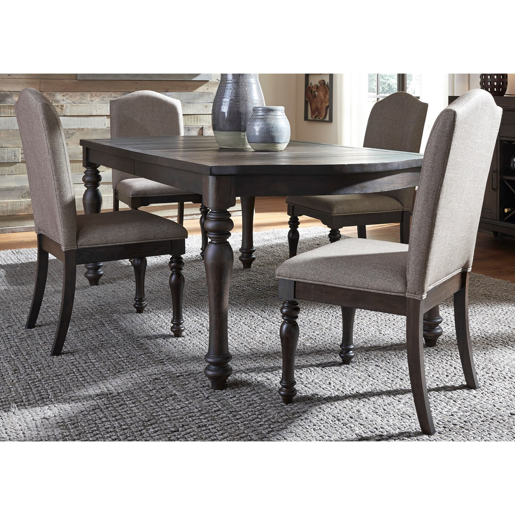 Liberty Furniture Catawba Hills Dining 5 Piece Table & Chair Set - Item Number: 816-DR-5RLS