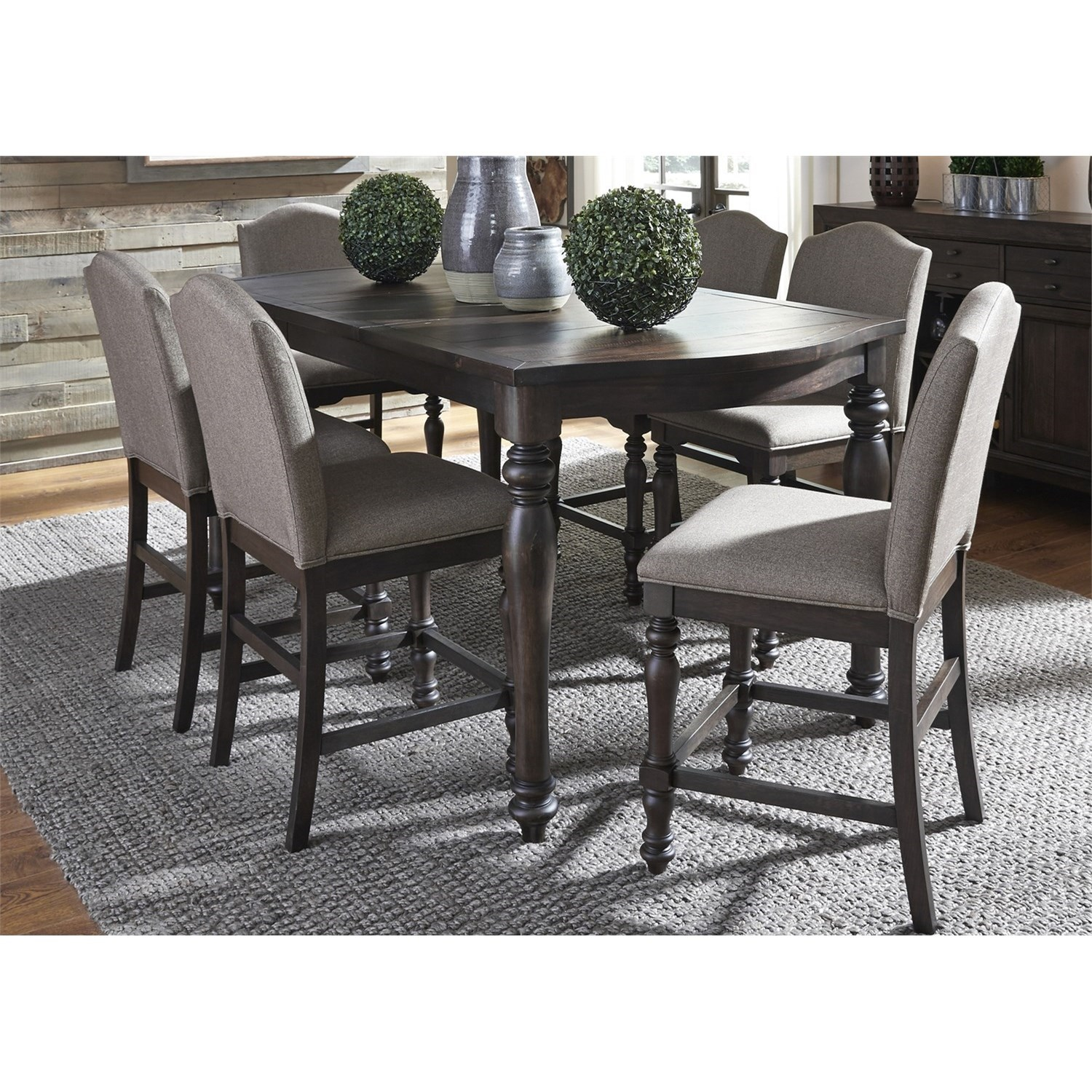 Liberty Furniture Catawba Hills Dining 7 Piece Gathering Table Set  - Item Number: 816-DR-7GTS