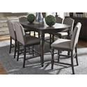 Vendor 5349 Catawba Hills Dining 7 Piece Gathering Table Set  - Item Number: 816-DR-7GTS