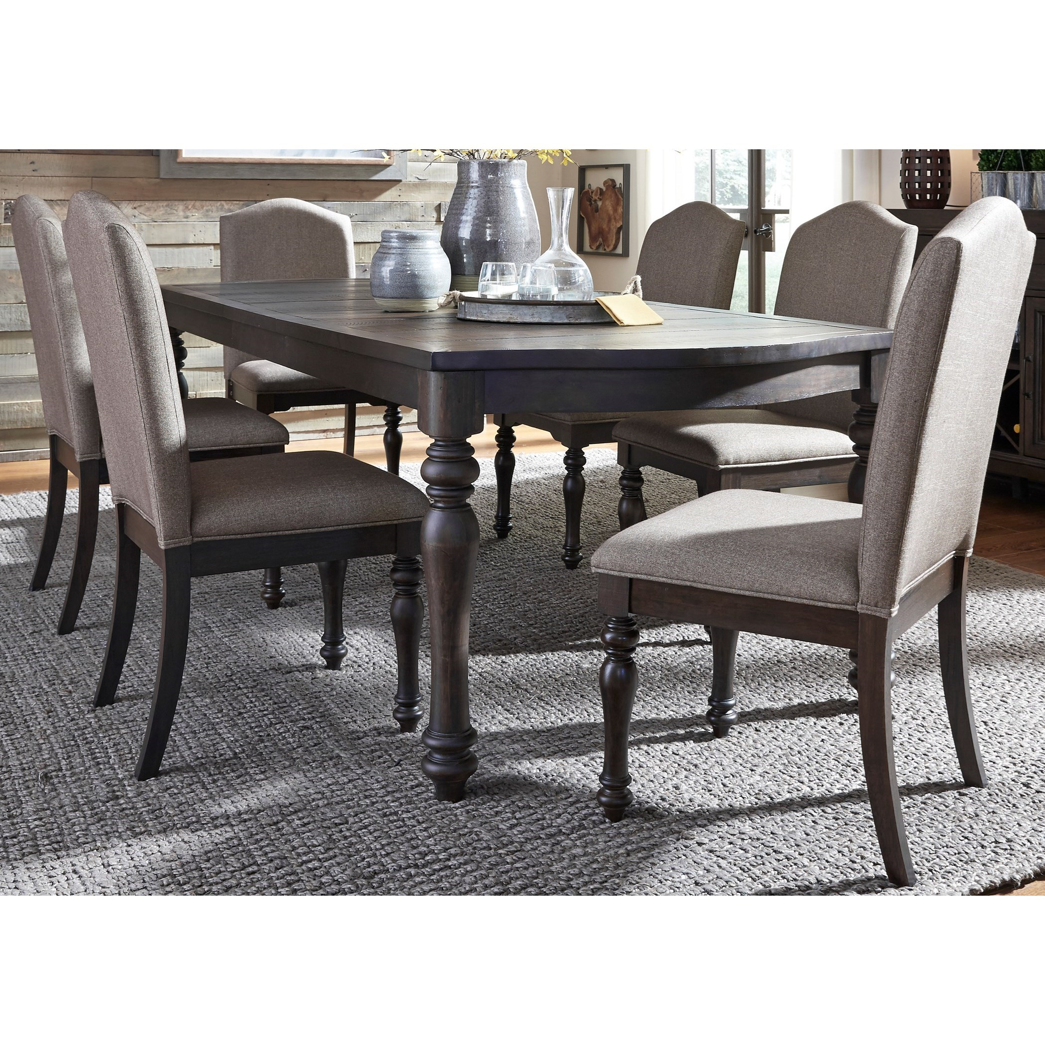 Liberty Furniture Catawba Hills Dining 7 Piece Table with Leaf