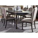 Liberty Furniture Catawba Hills Dining 7 Piece Table & Chair Set - Item Number: 816-DR-7RLS