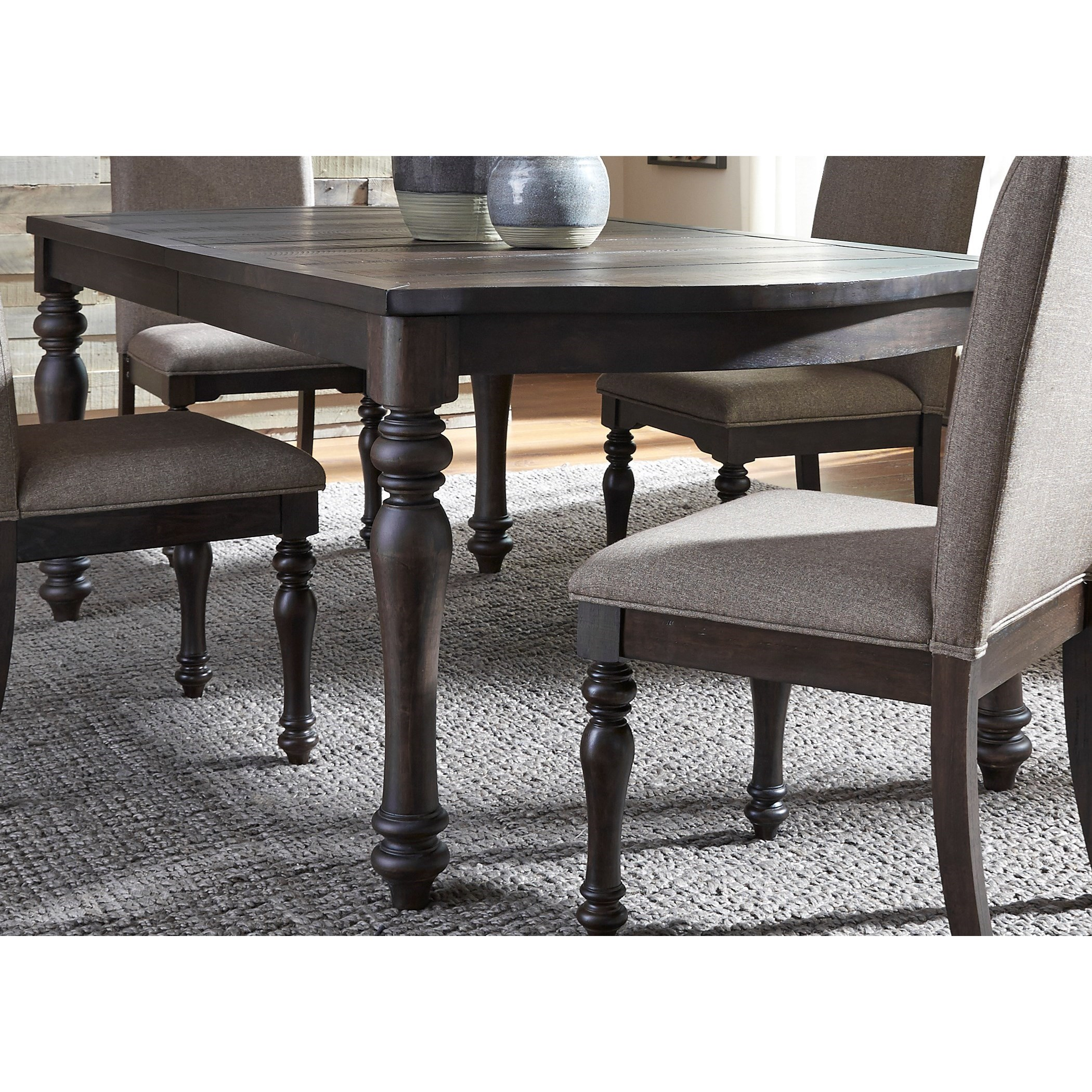 Rectangular Dining Room Tables With Leaves: Catawba Hills Dining Rectangular Leg Table With Leaf