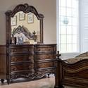 Liberty Furniture Chamberlain Court 8 Drawer Dresser & Mirror  - Item Number: 491-BR-DM