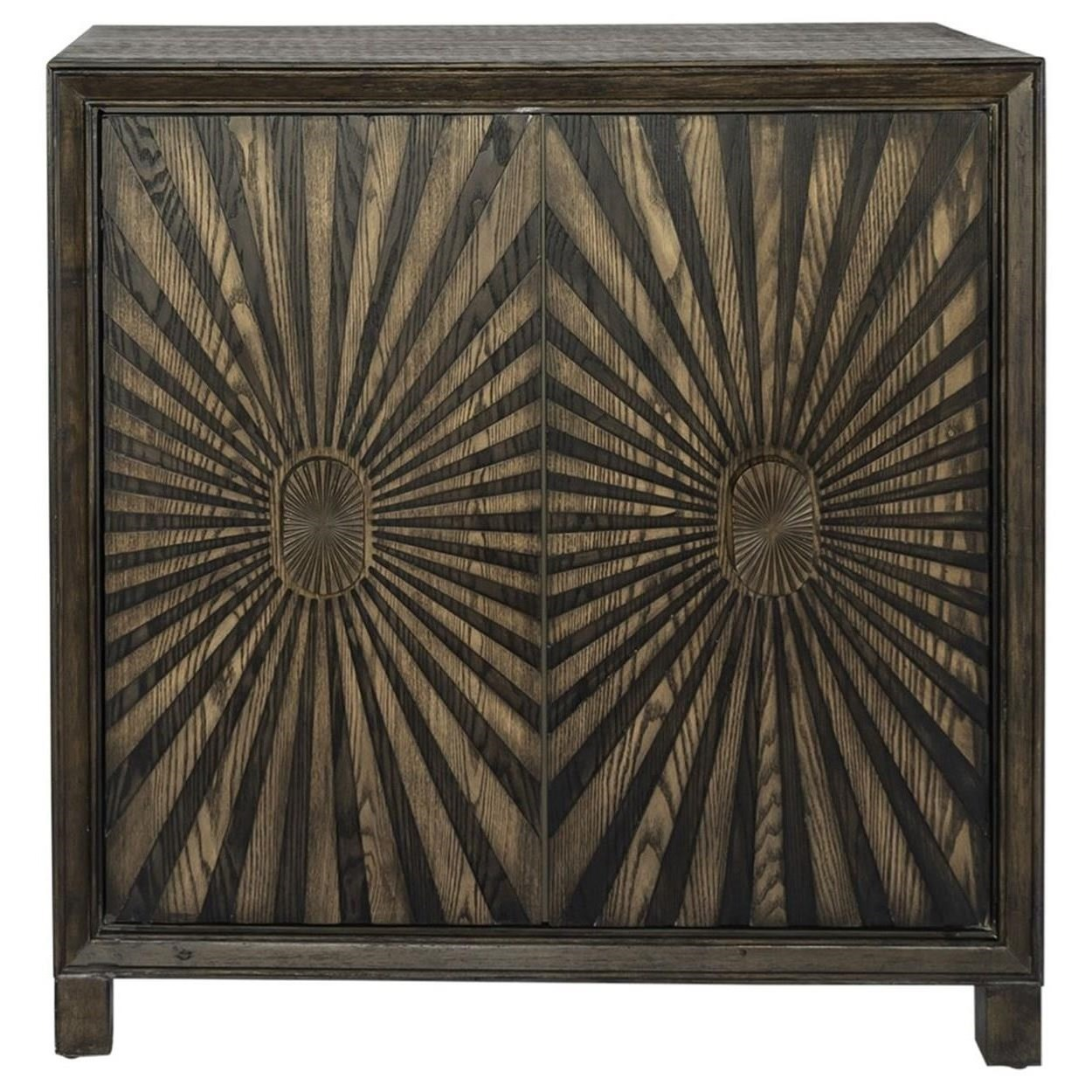 Chaucer 2-Door Wine Accent Cabinet by Libby at Walker's Furniture