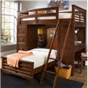 Liberty Furniture Chelsea Square Youth Twin Loft Bed Unit - Item Number: 628-YBR-SET210