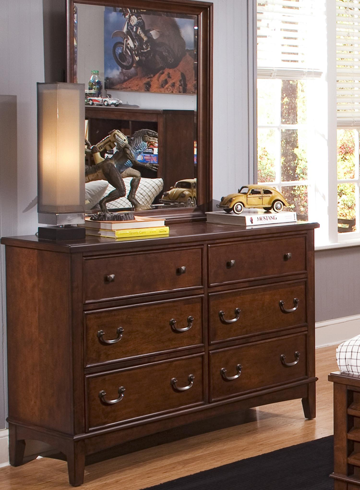 Liberty Furniture Chelsea Square Youth Dresser & Mirror Combination - Item Number: 628-YBR-SET50