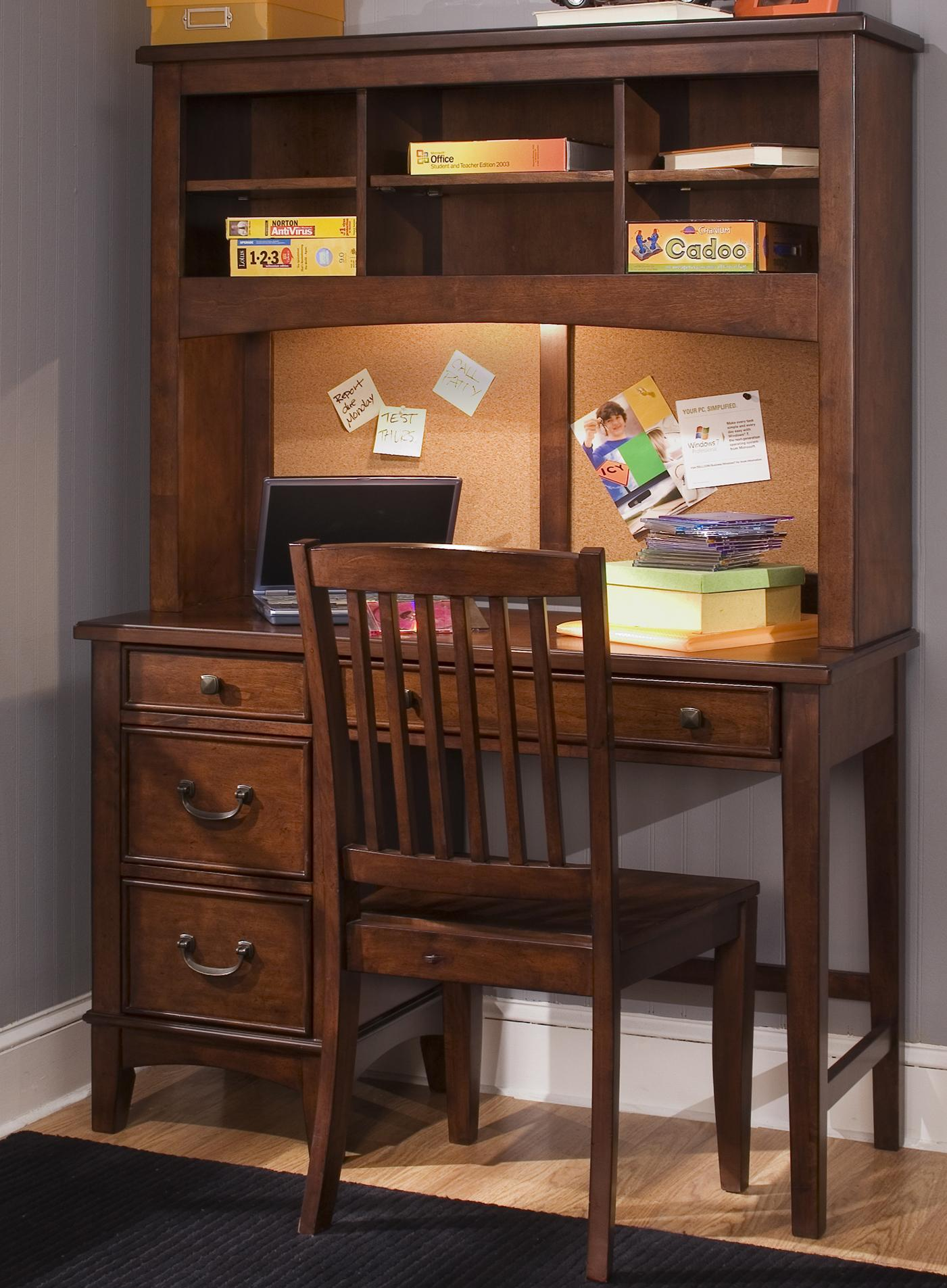 Liberty Furniture Chelsea Square Youth Student Desk - Item Number: 628-YBR-SET85