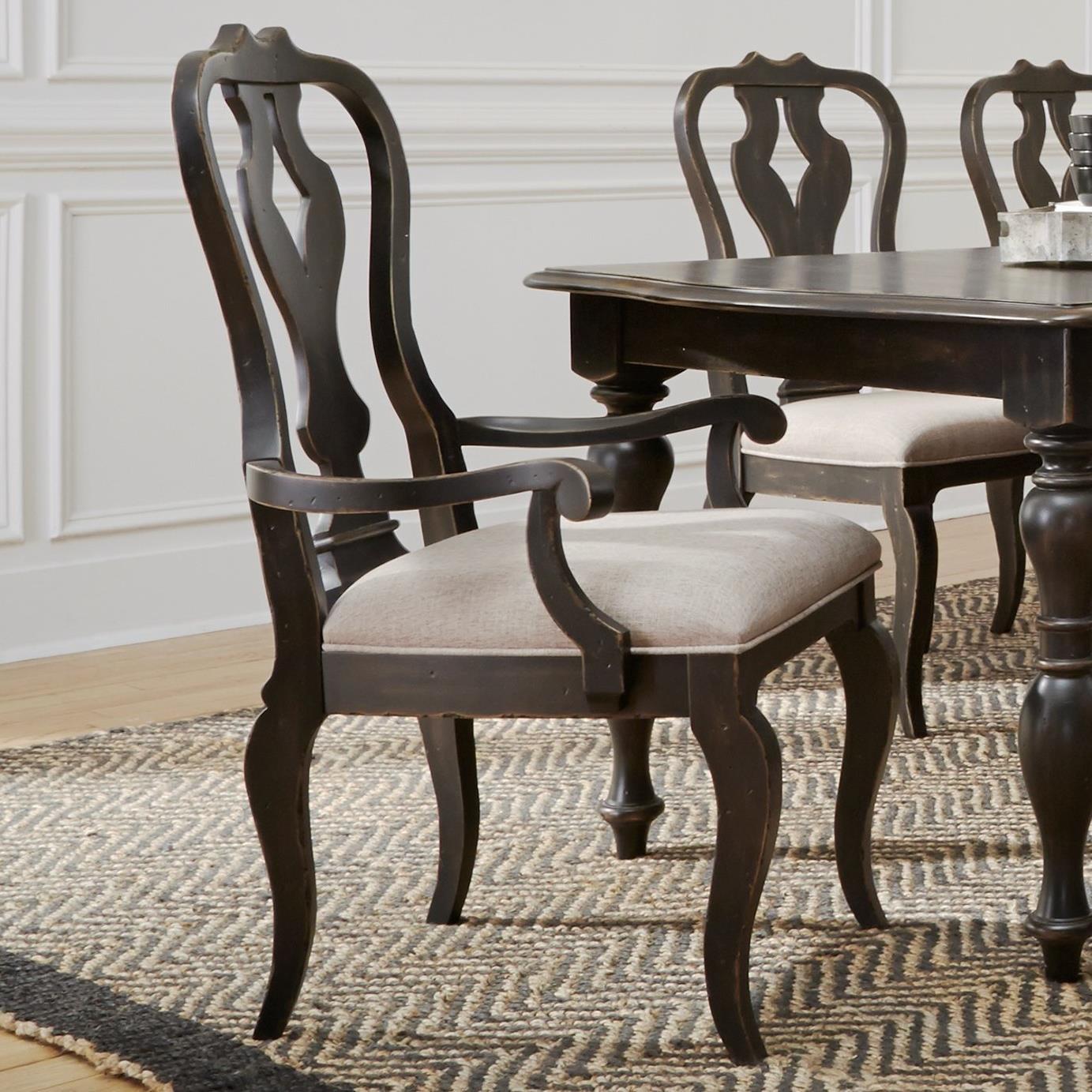 Chesapeake Splat Back Arm Chair by Liberty Furniture at Standard Furniture