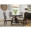Liberty Furniture Chesapeake Round Pedestal Table and Chair Set - Item Number: 493-DR-5PDS