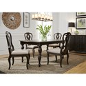 Liberty Furniture Chesapeake Rectangular Dining Table and Chair Set - Item Number: 493-DR-5RLS