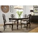 Liberty Furniture Cranborne 5PC Dining Table & Chair Set - Item Number: 493-DR-5RLS