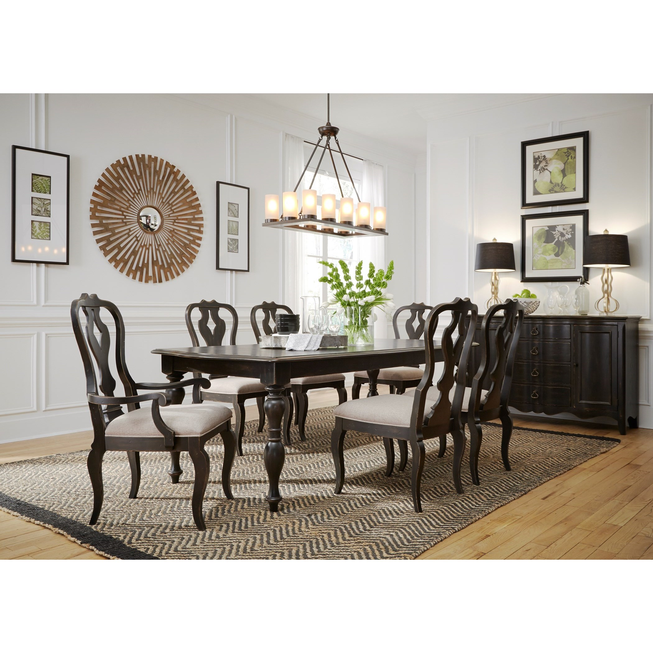 Liberty Furniture Chesapeake Table and Chair Set - Item Number: 493-DR-7RLS
