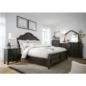 Liberty Furniture Chesapeake King Sleigh Bed, Dresser, Mirror, and Nights