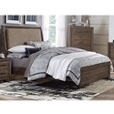 Liberty Furniture Clarksdale Queen Upholstered Bed  - Item Number: 445-BR-QUB