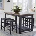 Liberty Furniture Color Nook 5-Piece Gathering Table Set - Item Number: 410B-CD-5GTS