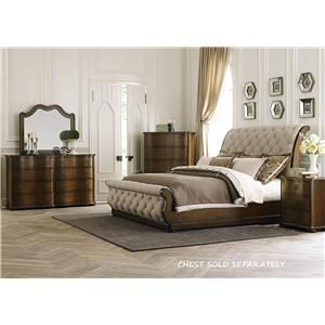 Liberty Furniture Cotswold Transitional Upholstered Queen Sleigh - Liberty furniture industries bedroom sets