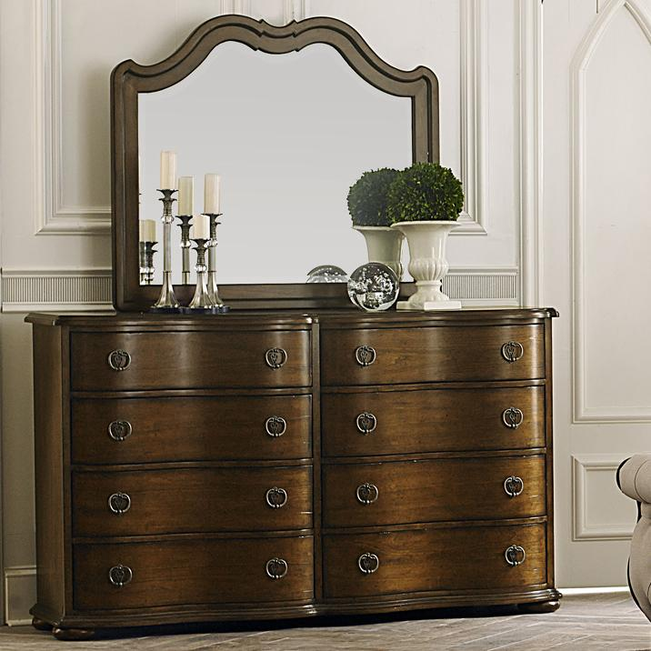 Liberty Furniture Cotswold  Dresser and Mirror - Item Number: 545-BR-DM