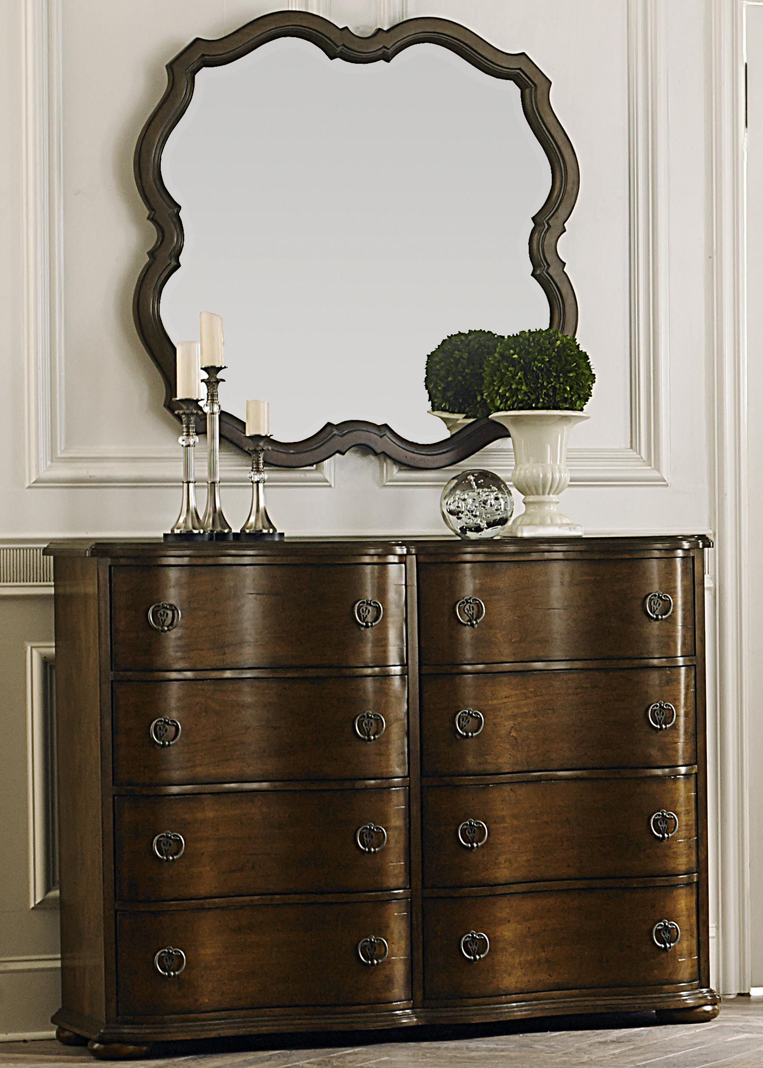 Liberty Furniture Cotswold  Bureau and Wall Mirror - Item Number: 545-BR-ODM