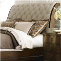 Liberty Furniture Cotswold  Queen Upholstered Sleigh Headboard - Item Number: 545-BR21H