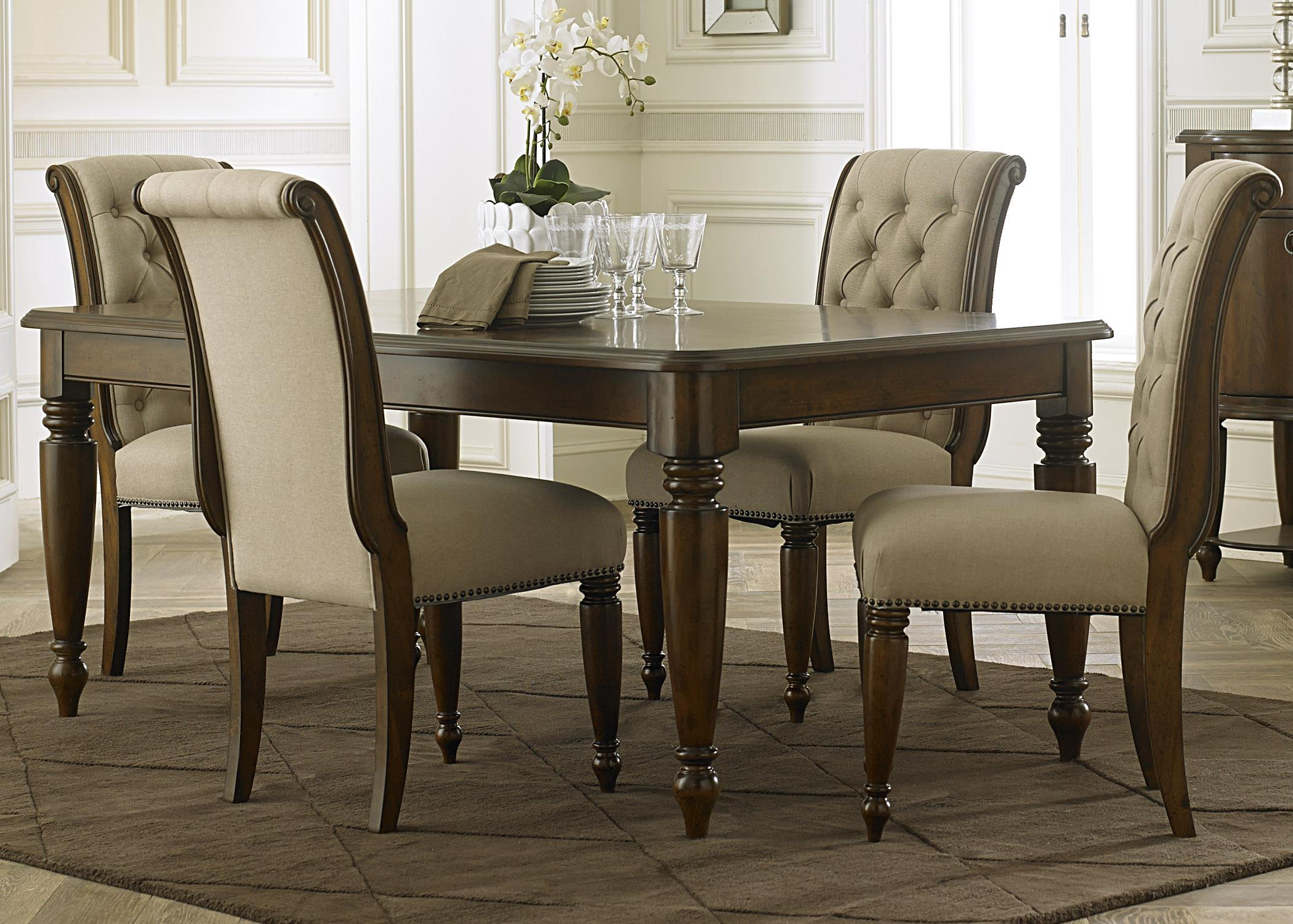 Liberty Furniture Carrington 5 Piece Rectangular Table Set - Item Number: 545-DR-5RLS