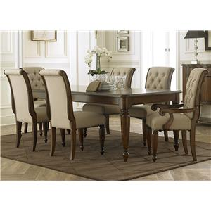 Vendor 5349 Cotswold  7 Piece Rectangular Table Set