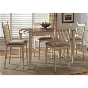 Liberty Furniture Cottage Cove 5-Piece Gathering Height Dining Set