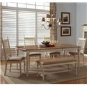 Liberty Furniture Cottage Cove 6-Piece Dining Set  - Item Number: 157-CD-SET191