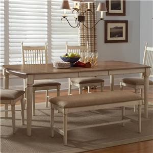 Liberty Furniture Cottage Cove Rectangular Leg Table