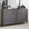 Liberty Furniture Cottage View 6 Drawer Dresser - Item Number: 423-BR30