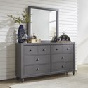 Liberty Furniture Cottage View Dresser and Mirror - Item Number: 423-YBR-DM