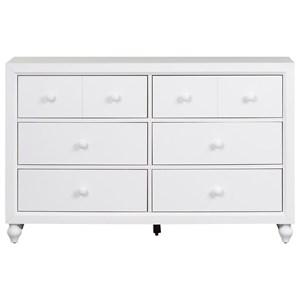 Vendor 5349 Cottage View 6 Drawer Dresser