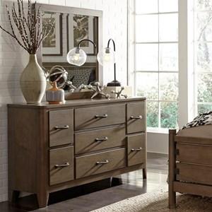 Liberty Furniture Cottonwood Creek Dresser and Mirror