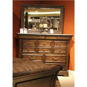 Liberty Furniture Country Estate Dresser and Mirror Combo