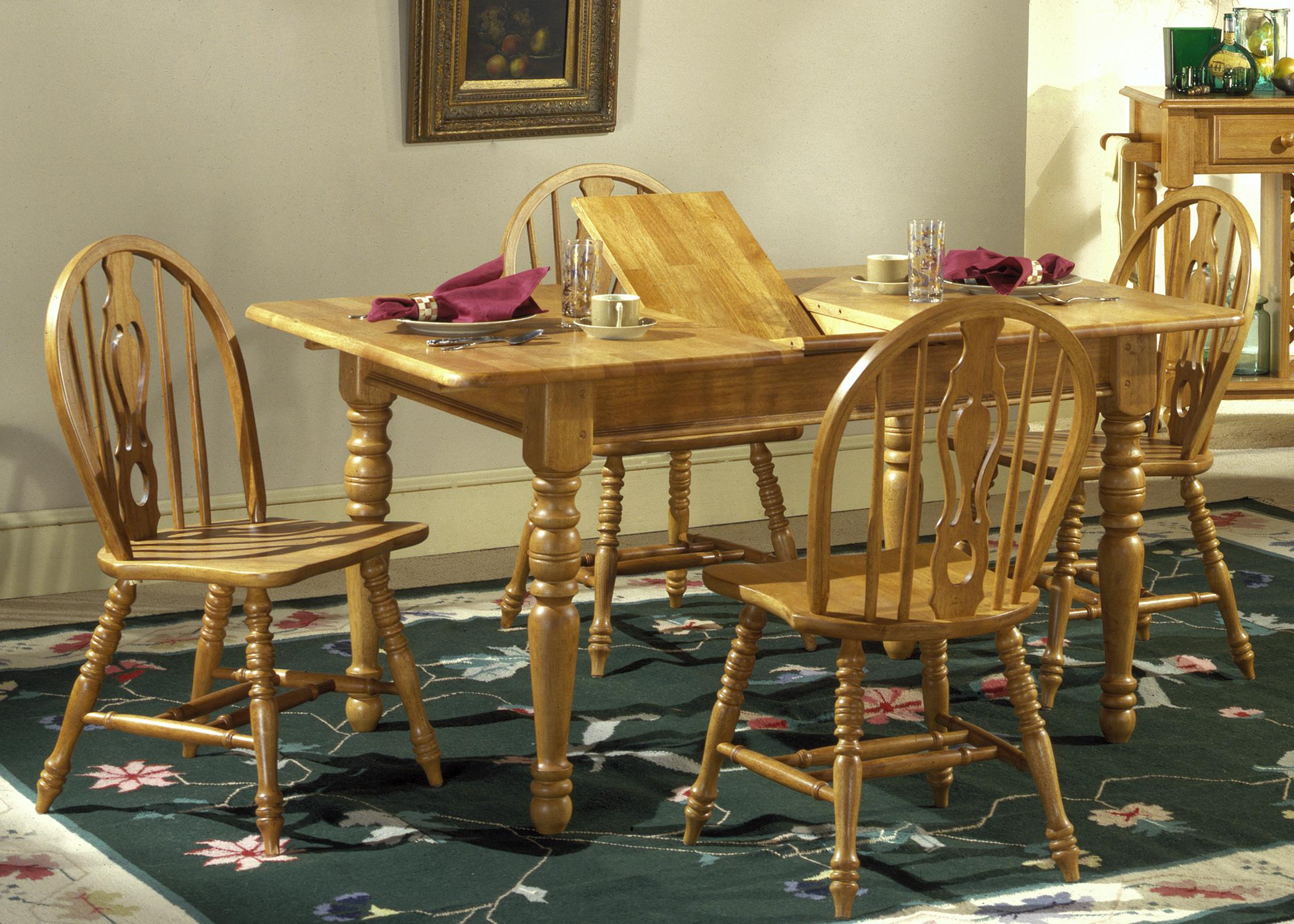 Liberty Furniture Country Haven Five Piece Dining Set - Item Number: 85-T1576+4xC1465S