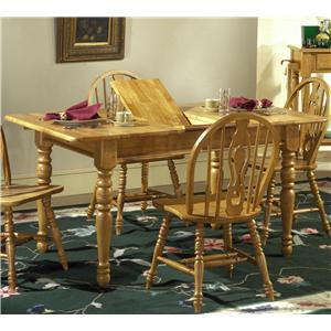 Vendor 5349 Country Haven Butterfly Leaf Leg Table