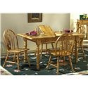 Liberty Furniture Country Haven Butterfly Leaf Leg Table - Shown with Windsor Side Chairs